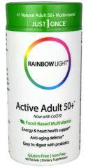 """""""Active Adult 50+"""" Food Based Multi Vitamin Mineral (90 tabs) by Rainbow Light $33.99"""