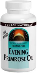 """Evening Primrose Oil"" 1,350 mg Hexane-Free (60 Softgels) by Source Naturals $10.99"