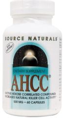 """AHCC"" with Bioperine 500mg (30+30Free=60 caps) by Source Naturals $49.99"