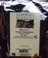 "Spirulina Powder Organic"" Source - India (1 lb) by Starwest Botanicals $29.99"