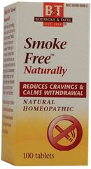 """Smoke Free""™ Naturally- Homeopathic Remedy (100 Sublingual Tabs) by Boericke and Tafel $8.99"