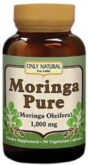 """Moringa Pure"" 1000 mg (90 Vegetarian Caps) by Only Natural $12.99"