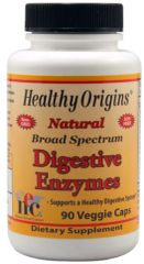 Digestive Enzymes - Broad Spectrum (90 Veggie ) by Healthy Origins $22.99