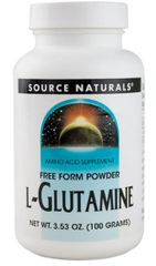 """L-Glutamine Powder"" 100 gm (3.53oz) by Source Naturals $10.15"
