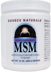 """MSM OptiMSM Powder"" (1 lb) by Source Naturals $18.89"