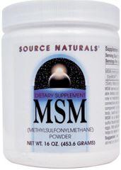"""MSM OptiMSM Powder"" (1 lb) by Source Naturals $18.89"