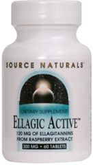 """Ellagic Active"" 300 mg (60 tabs) by Source Naturals $17.15"
