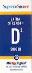 """Vitamin D3"" 5,000 IU (100 D-3 sublingual instant dissolve microtabs) by Superior Source $10.99"