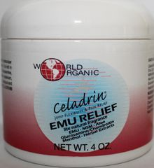 Celadrin Emu Relief Gel Cream - Emu, Aloe, MSM, Glucosamine, Hyaluronic Acid, Menthol and more for Joint Pain (4oz) $15.99