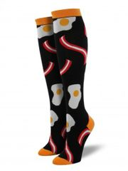 Knee High Socks Women BACON & EGGS
