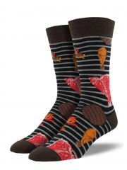 Crew Socks Mens STEAK BBQ