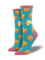 Crew Socks Women GRILLED CHEESE TURQUOISE
