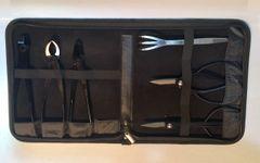 7 Piece Intermediate Quality Carbon Steel Tool Set, Branch Cutter, Trim Scissors, Wire Cutter, Jin Pliers, Root Scissors, Root Rake, Vinyl Case