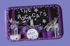"Rock Cats ""Tabby Trio"" Button/Magnet"