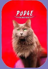 """Pudge, """"The Sweetheart"""" Button/Magnet RED version"""