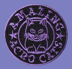 Acro-Cat Embroidered Patches