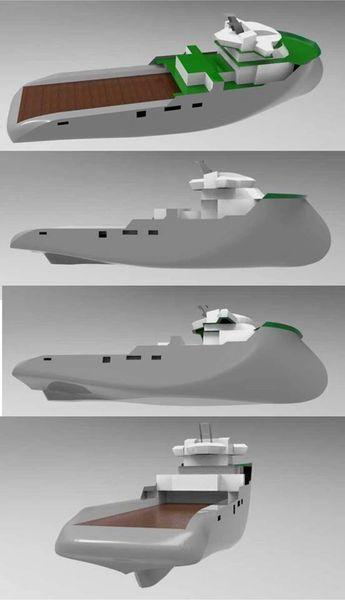 """36.5"""" Anchor Handling Tug boat Full Kit"""