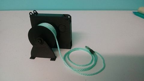 1/24 Deck Winch with Rope