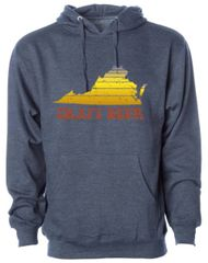 Virginia Craft Beer - Throwback Navy Hoodie