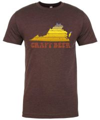 Virginia Craft Beer - Throwback Brown Shirt