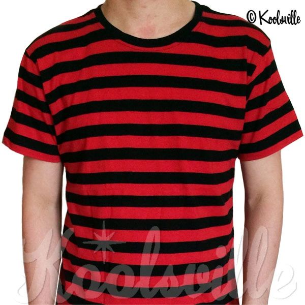 1b42bf1900 Striped Rocker T-shirt Red Black | Koolsville