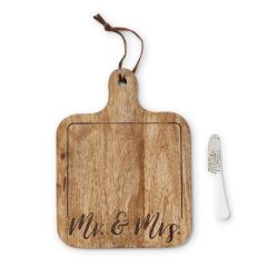 Mr. & Mrs. Wood Cutting Board Set