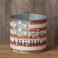 """God Bless America"" Tin Bucket"