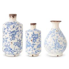 Large Blue & White Ceramic Jug [Grad. Sizes]