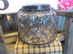 Jar With Black Wire