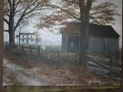Old Country Road Canvas