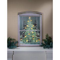 LED Large Glistening Pines Canvas