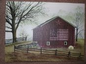 Flag Barn Canvas