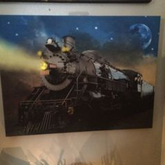 Lighted LED Train Canvas