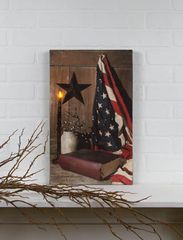 LED God & Country Canvas