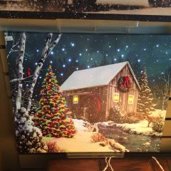 Lighted LED Old Mill Canvas