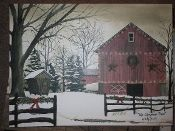 Christmas Barn Canvas