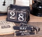 Black Perpetual Calendar Blocks