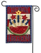 Americana Watermelon Garden Flag
