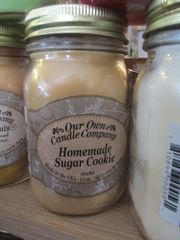 Homemade Sugar Cookie Candle