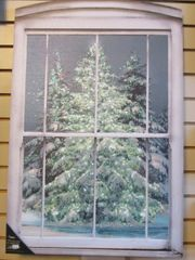 Lighted LED Large Glistening Pines Canvas
