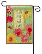 Follow Your Heart Garden Flag