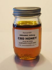 Organic CBD infused local Wildflower and Clover Honey 240 mg
