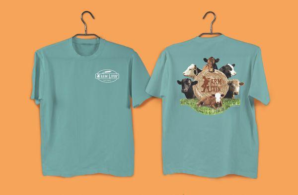 Bay T-Shirt/ Beef Cows Design