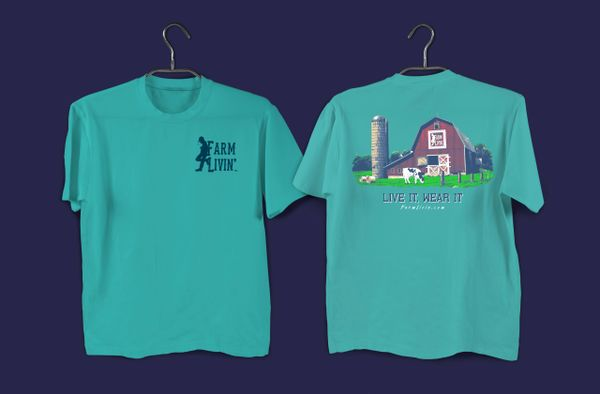 Chalky Mint T-Shirt/ Red Barn Design