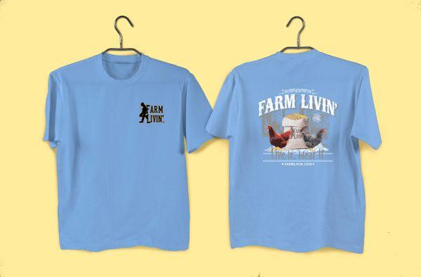 Lt. Blue T-shirt/ Chicken Design