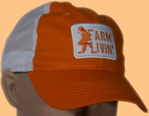 Orange/White Mesh Cap