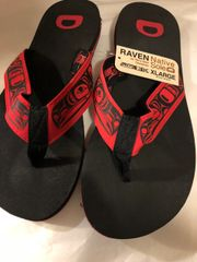 Native Sole Flip Flops - Raven