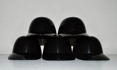 Blank Black Lot of (5) Ice Cream Sundae Helmets (free shipping)