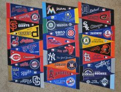 Complete Set of (30) MLB Baseball Felt Mini Pennants (free shipping)