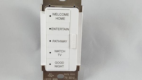 URC Vivido (Cooper) 5 Button Keypad Engraving White
